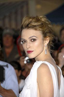 Keira Knightley At Arrivals For Pirates Art Print by Everett