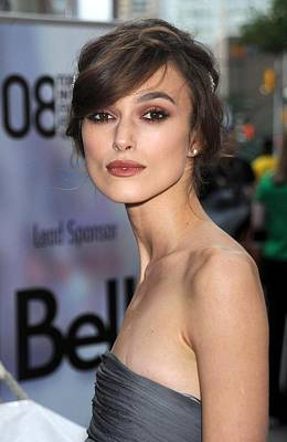Hair Bun Photograph - Keira Knightley At Arrivals For The by Everett
