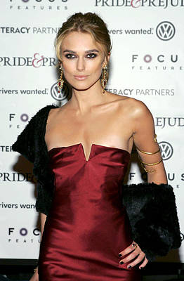 Keira Knightley Wearing A Calvin Klein Art Print by Everett