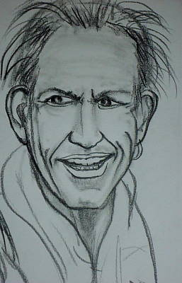 Rolling Stone Drawing - Keith 2012 by Pete Maier