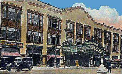 Keith Albee Theatre In Flushing Queens N Y In 1934 Art Print by Dwight Goss