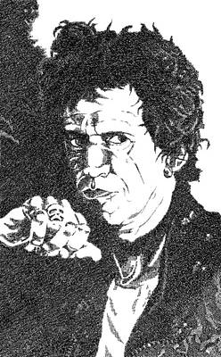 Music Drawing - Keith Richards by Ismael Vicedo