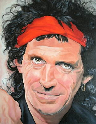 Keith Richards Art Print by Timothe Winstead