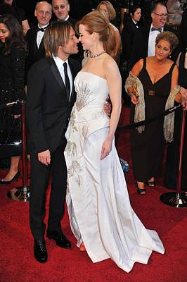 Keith Urban, Nicole Kidman At Arrivals Print by Everett