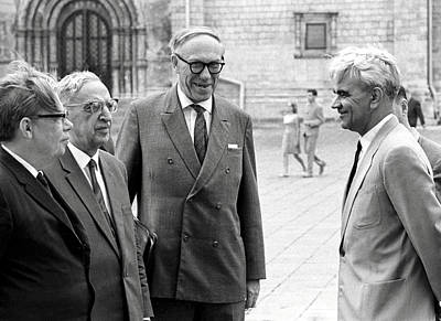 Keldysh (right) With Soviet Scientists Art Print