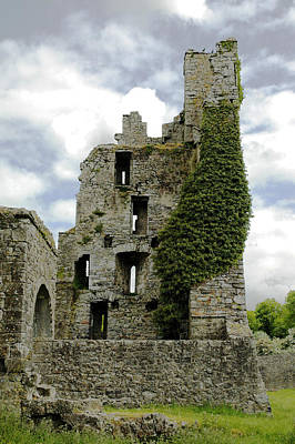 Kells Abbey Tower Art Print by George Crawford