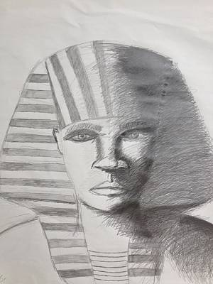 Horus Drawing - Kemetic Man  by Brandon King