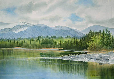 Alaska Mountains Painting - Kenai Lake Early Morning Spring by Sharon Freeman