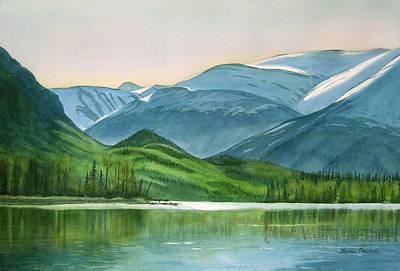 Landing Painting - Kenai Lake Reflections by Sharon Freeman