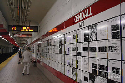 Photograph - Kendall Station Boston by Morgan Wright
