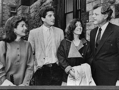 Ted Kennedy Photograph - Kennedy Family. From Left  Former First by Everett