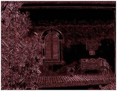 Kenner Bench Art Print by Marian Hebert