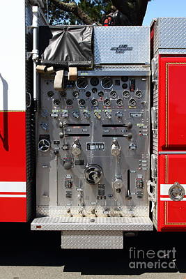 Kensington Fire District Fire Engine Control Panel . 7d15856 Art Print by Wingsdomain Art and Photography