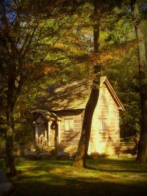 Kentucky Log Cabin Art Print by Cindy Wright