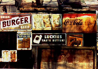 Art Print featuring the photograph Kentucky Shed Ad Signs by Tom Wurl