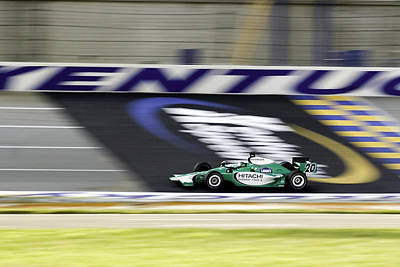 Open-wheel Photograph - Kentucky Speedway Irl by Keith Allen