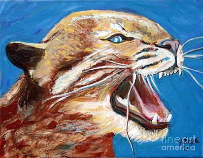 Art Print featuring the painting Kentucky Wildcat by Jeanne Forsythe