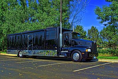 Photograph - Kenworth Custom Car Hauler Rv by Tim McCullough