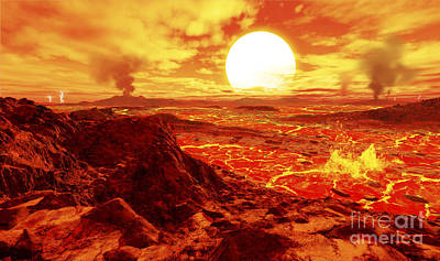 Extrasolar Planet Digital Art - Kepler 10b Is The First Extrasolar by Ron Miller