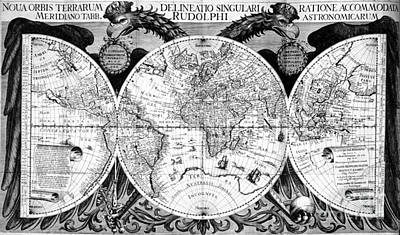 Keplers World Map, Tabulae Art Print by Science Source