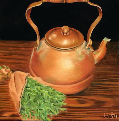 Teapot Painting - Kettle by Dawnstarstudios