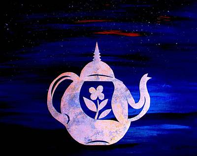 Bage Painting - Kettle With Flower by Artist Singh