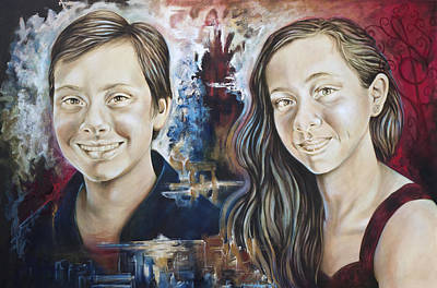 Painting - Kevin And Rebecca by Karina Llergo
