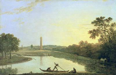 Kew Gardens - The Pagoda And Bridge Art Print