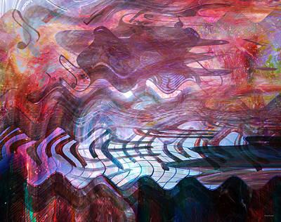 Abstract Movement Digital Art - Key Mode by Linda Sannuti