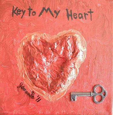 Key To My Heart Original by Jeannie Atwater Jordan Allen