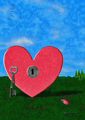 Ladybug Digital Art - Key To My Heart by Jeff Kolker