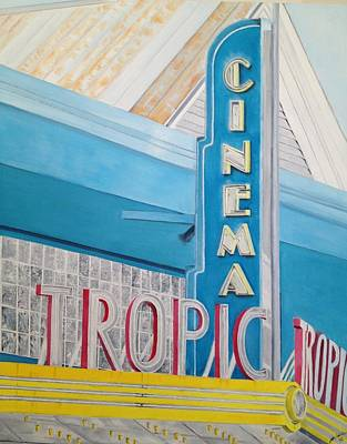 Painting - Key West - Tropic Cinema by John Schuller