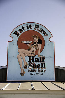 Key West Eat It Raw  Art Print