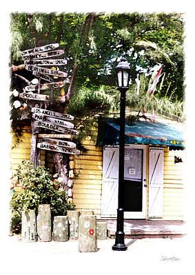 Key West Signs Art Print by Linda Olsen