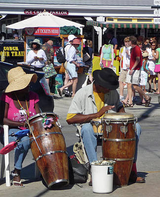 Photograph - Key West Street Musicians by Helen Haw