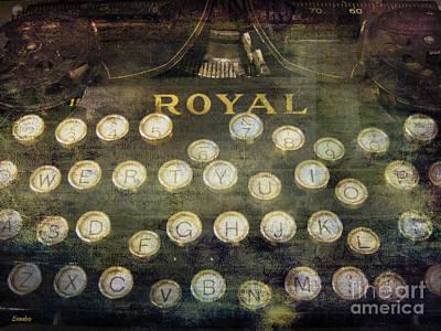 Typewriter Photograph - Keyboard by Eena Bo