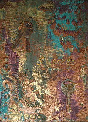 Mixed Media - Keys To Success by Cheri Stripling