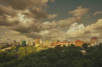 Khabarovsk City Skyline With New Art Print