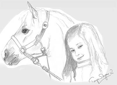 Kiara And Pony Art Print