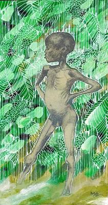 Kid Art Print by Agenor  Marti