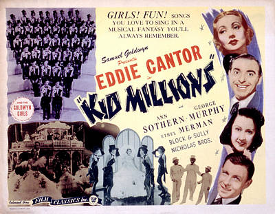 Ethel Merman Photograph - Kid Millions,top-bottom, Ann Sothern by Everett