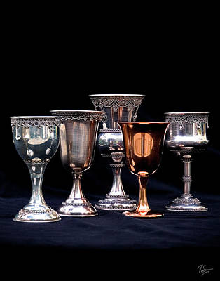 Photograph - Kiddush Cups by Endre Balogh