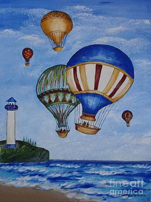 Best Choice Painting - Kid's Art- Balloon Ride by Tatjana Popovska