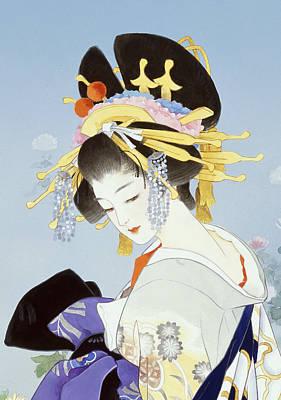 Kiku Art Print by Haruyo Morita