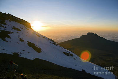 Photograph - Kilimanjaro Sunrise With Climbers by Scotts Scapes