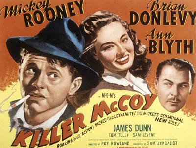 Posth Photograph - Killer Mccoy, Mickey Rooney, Ann Blyth by Everett