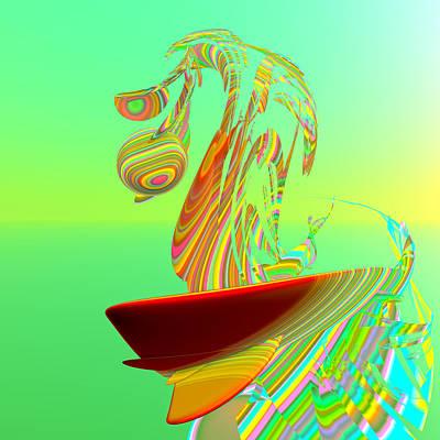 Surfboards Digital Art - Killer Wave by Betsy Knapp