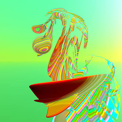 Wave Surfer Digital Art - Killer Wave by Betsy Knapp
