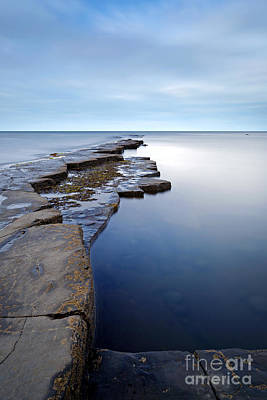 Ledge Photograph - Kimmeridge Bay In Dorset Ledge Out To Sea by Richard Thomas