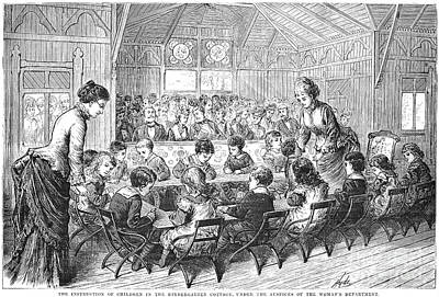 Kindergarten, 1876 Art Print by Granger